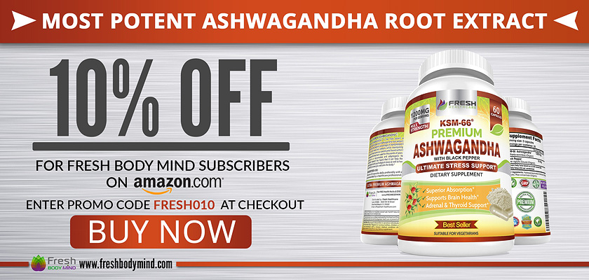 10% OFF Most Potent Ashwagandha Root Extract