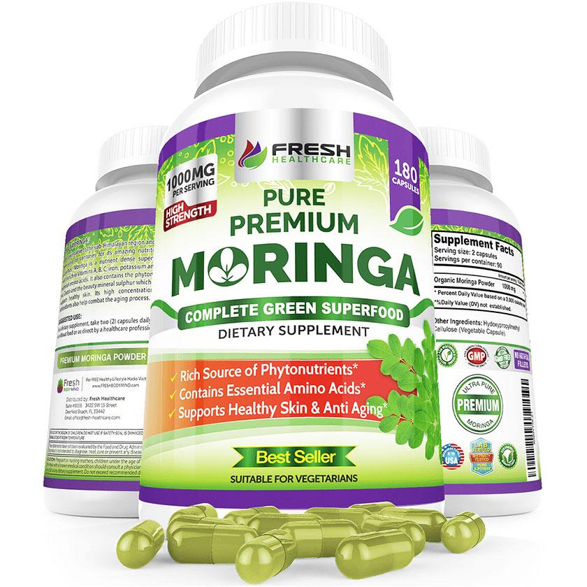 Best Moringa Oleifera Organic Capsules Supplement