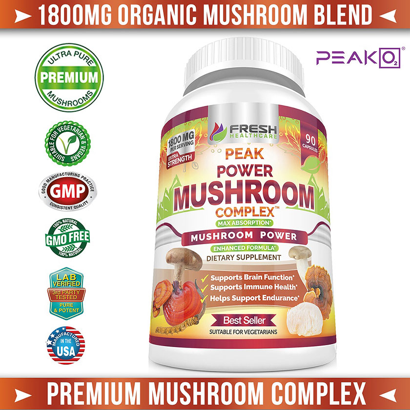 Premium Mushroom Complex - Organic Mushroom Blend