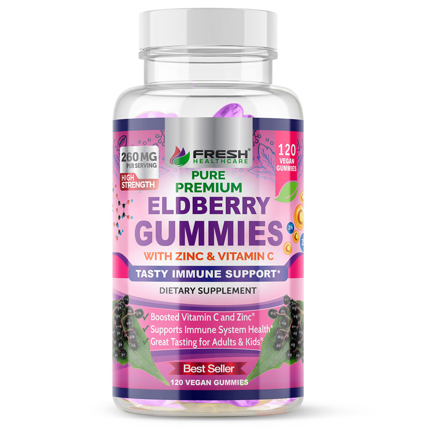 Pure Premium Elderberry Gummies