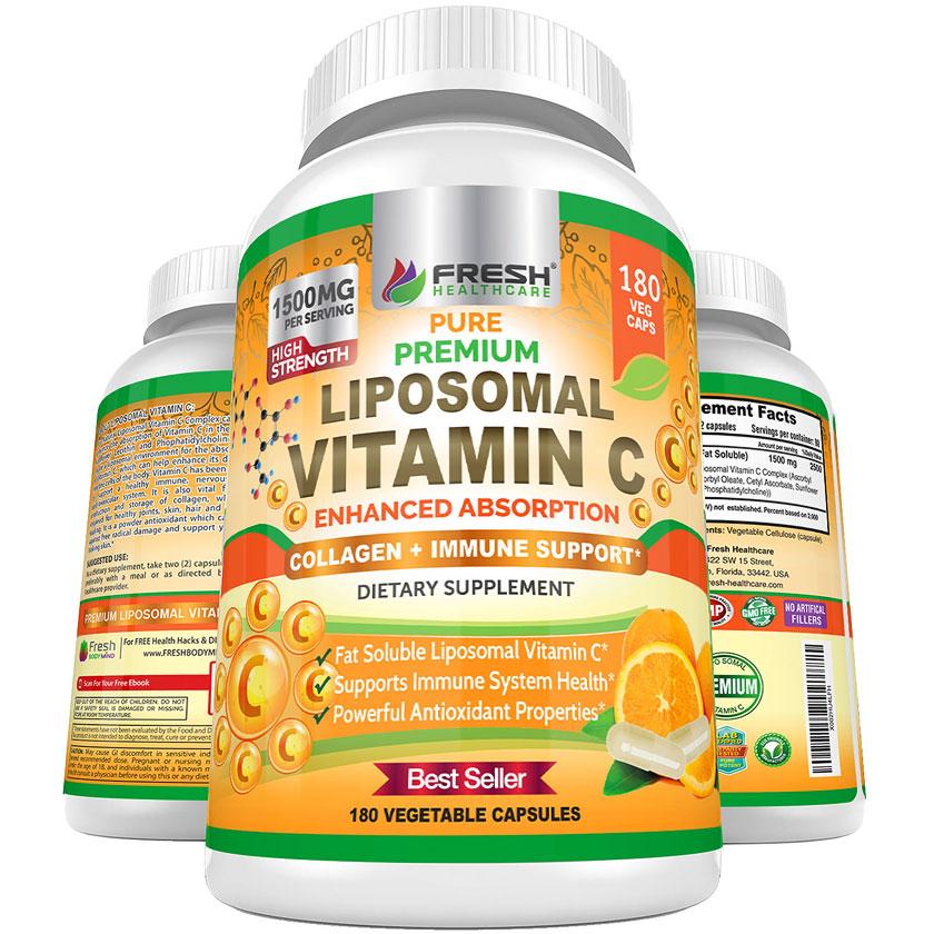 Pure Premium Liposomal Vitamin C Capsules
