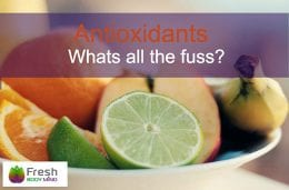Antioxidant fruit and vegetables