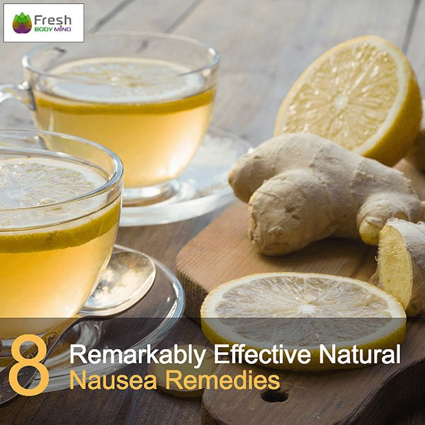 Lemon and Ginger Great Nausea Remedies