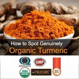 Certified organic turmeric
