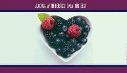 Juicing with Berries Header Graphic