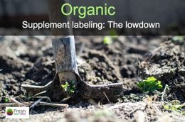 Organic Supplement labelling