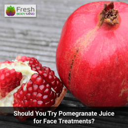 Pomegranate juice for face treatments