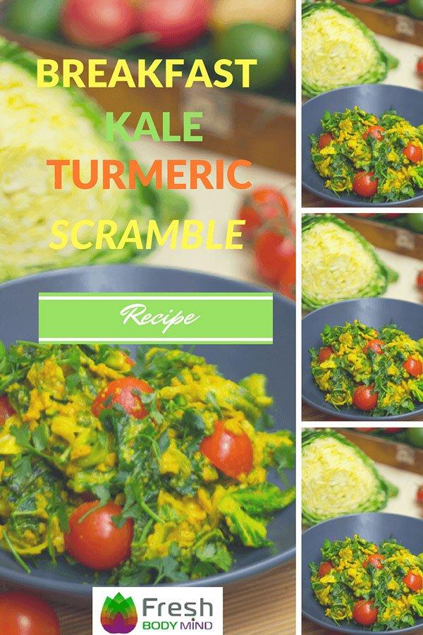 Breakfast Kale Turmeric Scramble Recipe