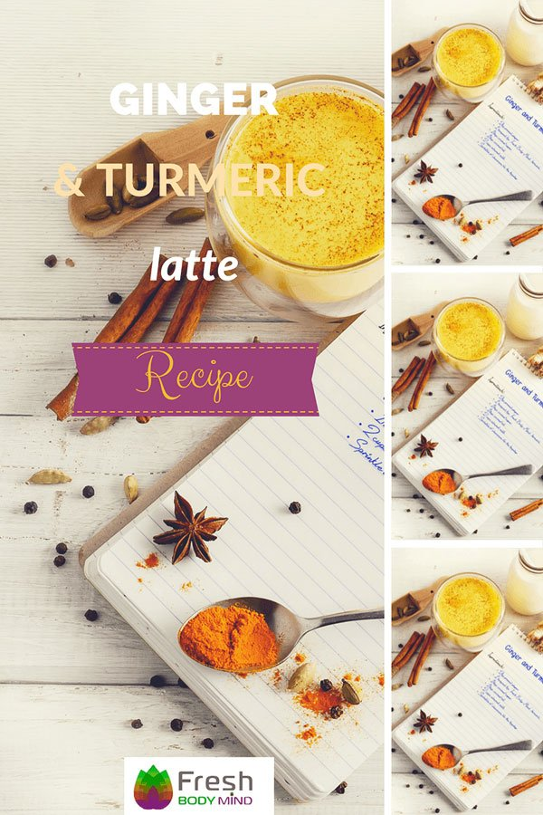 5 Min. Health Boosting Ginger and Turmeric Latte