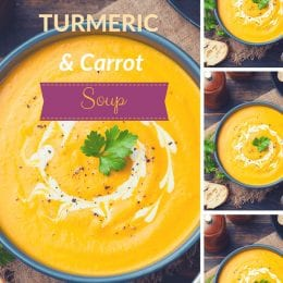 Health Boosting Pumpkin, Turmeric and Carrot Soup