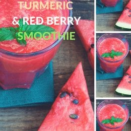 Watermelon, Turmeric and Red Berry Smoothie